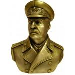 Busto sovietico di bronzo russo Joseph Stalin