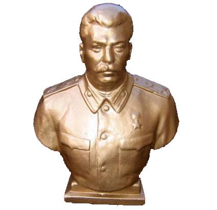 Busto del leader sovietico Joseph Vissarionovich Stalin