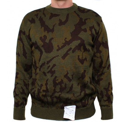 Russian camouflage warm military style sweater