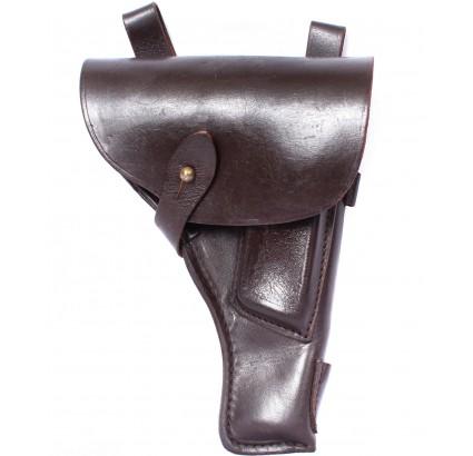 Armée soviétique vieux étui en cuir brun pour TT pistolet