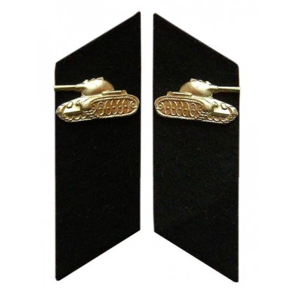 Russian Army TANK TROOPS military collar tabs