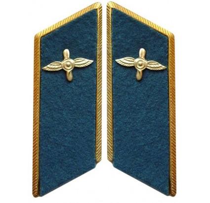 Militares soviéticos / ruso de la fuerza aérea desfile de pestañas de cuello