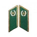 Guardias fronterizos del ejército ruso / soviético fichas de collar de metal verde