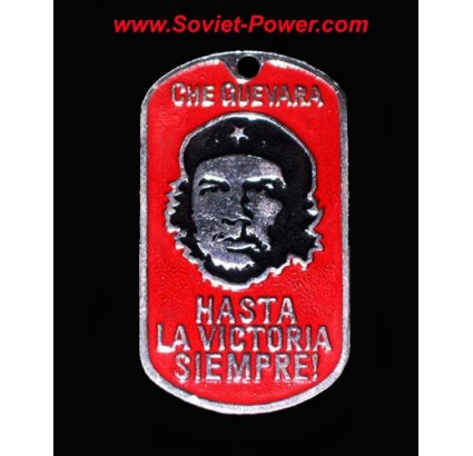 """Etiqueta del perro Che Guevara """"Hasta la Victoria Siempre"""""""