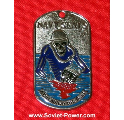 "Military Metal Tag NAVY SEALS ""A Cut Above the Rest"""