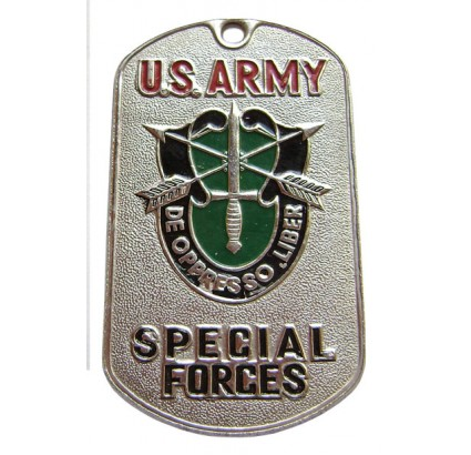 "U.S. Army SPECIAL FORCES dog tag ""DE OPPRESSO LIBER"""