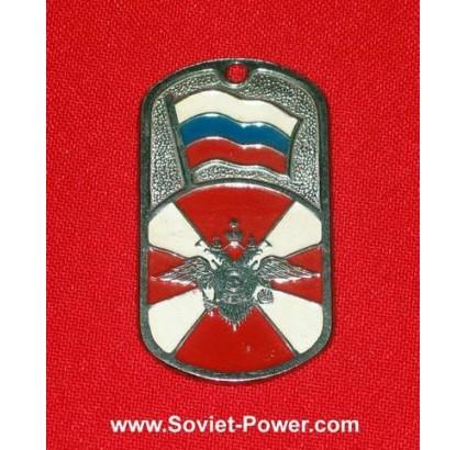 ロシアの兵士軍用犬のタグダブルイーグルアーム