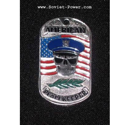 """Etiqueta militar del """"Pacificador Americano"""""""