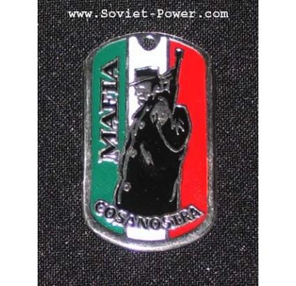 """Plaque de métal dog tag """"Mafia COSA NOSTRA"""""""