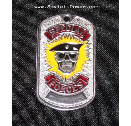 "USA SWAT metallo militare Dog Tag ""Forze Speciali"""