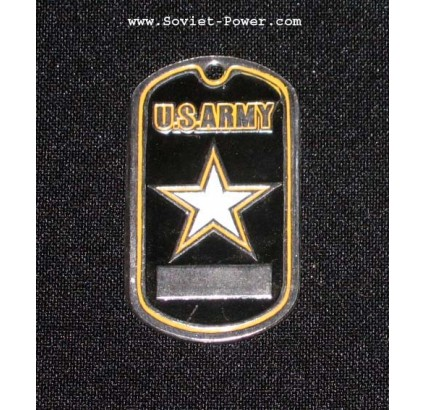 USA Soldier Military Metal Name Tag U.S. ARMY (Black)
