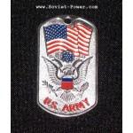 Soldado de los EEUU Etiqueta De Perro De Metal Militar EJÉRCITO DE LOS EEUU (Plata)