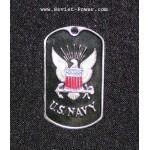 Soldado de los dog tag Etiqueta De Perro MARINA DE GUERRA de los EEUU (negro)