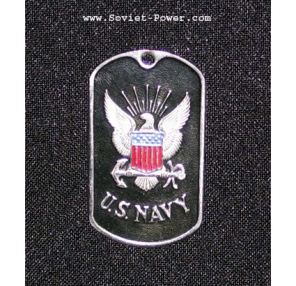 USA Soldier Military Metal Dog Tag U.S. NAVY (Black)