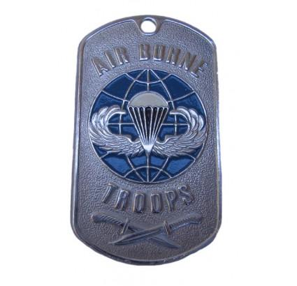 Armée US troupes aéroportées de dog tag militaire