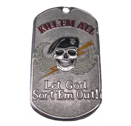"U.S. Army MARINES tag KILL EM ALL ""Let God Sort Em Out"""
