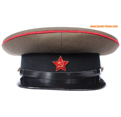 Russian RKKA ARTILLERY VISOR CAP Red Army hat badge