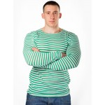 Russian Army Border Guards knitted green striped sweatshirt