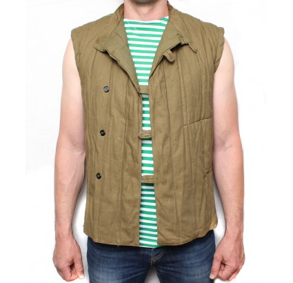 Russian sleeveless vest telogreika military winter jacket