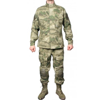 Modern tactical A-Tacs camo THUNDER uniform with knees