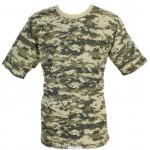 戦術迷彩コットングレーデジタル軍Tシャツ
