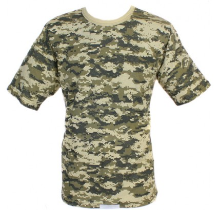 Tactical camo cotton Gray Digital military T-Shirt