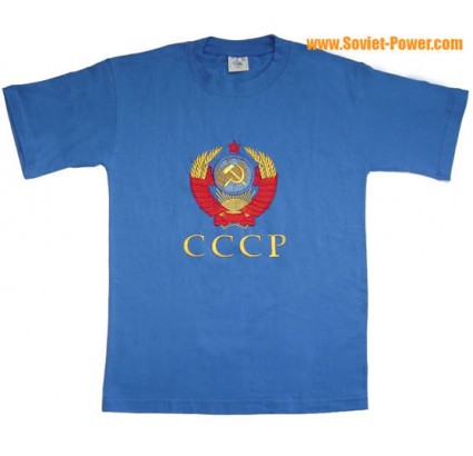 USSR Arms Soviet Embroidery T-Shirt < 3 COLORS >