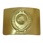 USSR military police Officers buckle with Soviet Union Arms