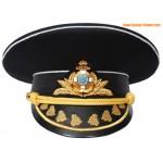 Cappello ucraino Ammiraglio nero navy visiera