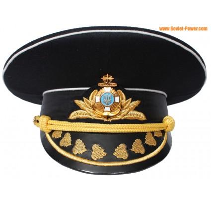 Almirante ucraniano sombrero negro visera de la marina