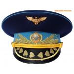 Armée de l'air Ukraine généraux bleu visière chapeau