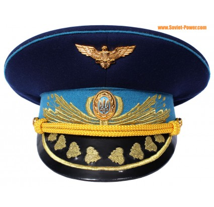 Ukraine Luftwaffengeneräle blau Visier Hut