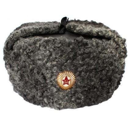 Généraux de l armée russe fourrure Astrakhan ushanka cuir chapeau