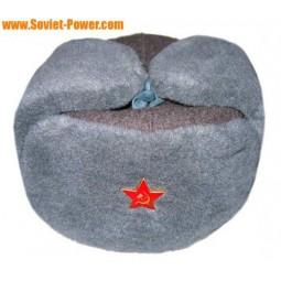 ロシアの冬の帽子ロシア帽ソ連軍の兵士