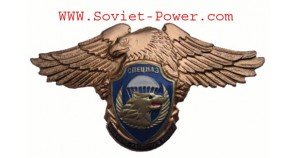 Russia VDV Division SPETSNAZ Metal Badge SWAT Eagle