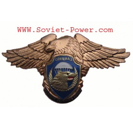 Russia VDV Division SPETSNAZ Metal Badge SWAT Eagle