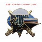 Armée de Russie VDV PARATROOPER BADGE en métal Bat & Drapeau RUS