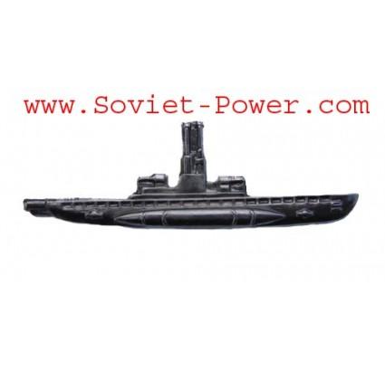 Soviet Silver SUBMARINE COMMANDER BADGE USSR Navy Fleet