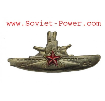 Soviet Golden SUBMARINE COMMANDER badge Navy USSR Fleet