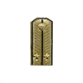Soviet Navy Lieutenant shoulder boards brass badge
