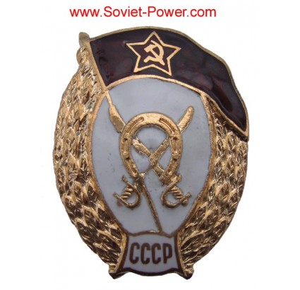 Soviet Military HIGH CAVALRY SCHOOL Badge USSR Red Star