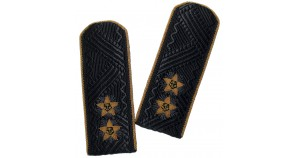 Black navy shoulder boards of Russian Vice Admiral