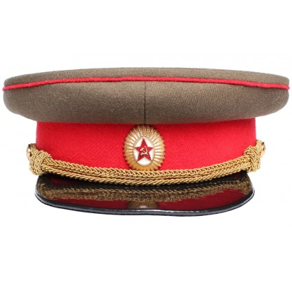 USSR RKKA OFFICER VISOR HAT Red Army cap