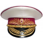 Soviética / rusa MVD generales Ministerio de Justicia Militar desfile sombrero blanco
