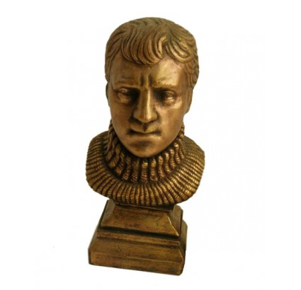 Bronze bust of V. Vysotsky - Russian singer and actor