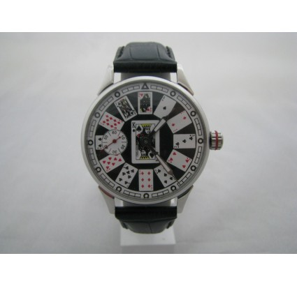 Molniya Soviet vintage wristwatch with Playing Cards