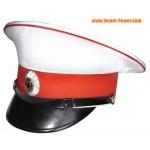 白いガードバイザー帽子アレクセイエフ馬術連隊ロシア軍
