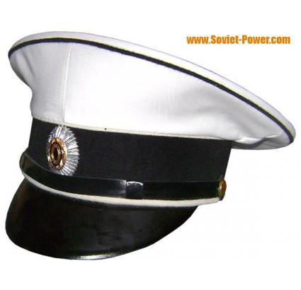 3月連隊のホワイトガードバイザーキャップ