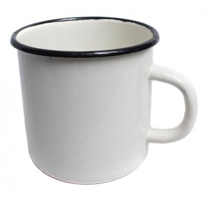 Russian Army soldiers white metal cup enamel mug