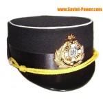Officier Ukraine marine femme chapeau noir